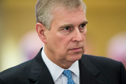 January 22, 2015. A prince under pressure: Prince Andrew during the 45th Annual Meeting of the World Economic Forum in Davos, Switzerland.