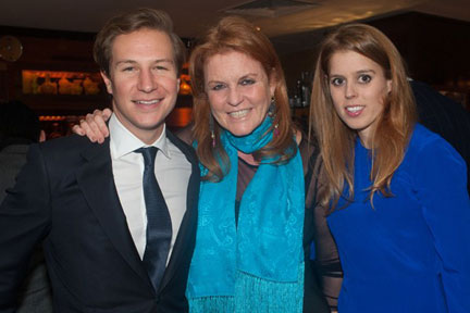 Princess Beatrice, Sarah, Duchess of York, and Dave Clark. Both of Beatrice's parents are very fond of Dave Clark and, current difficulties aside, a wedding in the not too distant future seems on the cards.