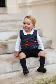 A picture of Prince George released for the holiday season taken at Kensington Palace by Prince Harry's private secretary Ed Lane Fox.