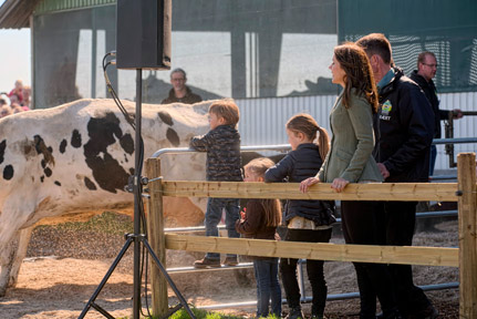 Crown Princess Mary, Princess Isabella, Prince Vincent and Princess Josephine open Denmark's annual 'Earth Day'.