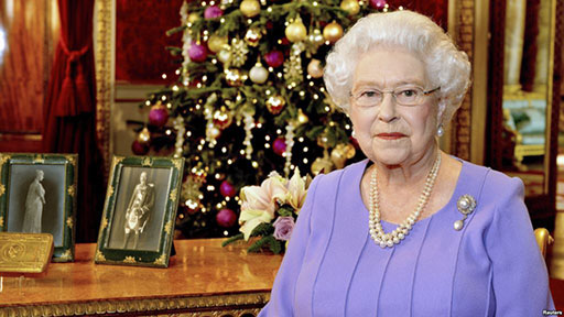 Queen Xmas Speech: Her Majesty the Queen during the monarch's traditional Christmas message.