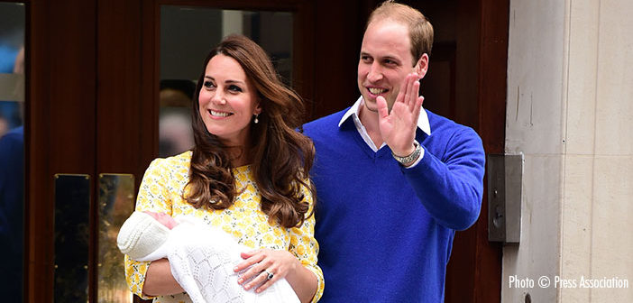 The Duke and Duchess of Cambridge appear outside the Lindo Wing with their second child, a baby girl.