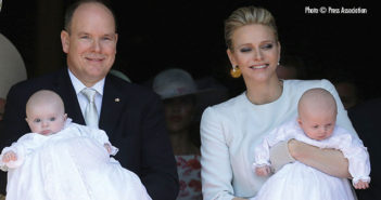 Monaco-Christening Prince Jacques and Princess Gabriella