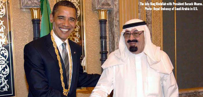 King Abdullah with President Barack Obama