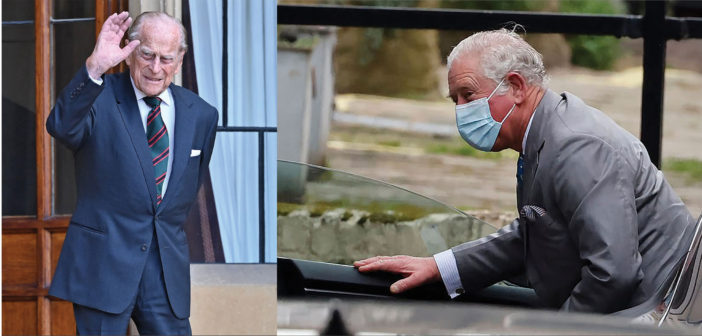 Prince Charles visits his father in hospital